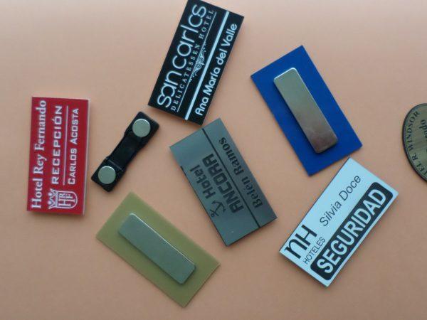 Placas Identificativas Personales.