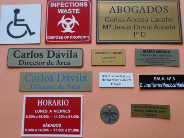 Placas Identificativas 1.