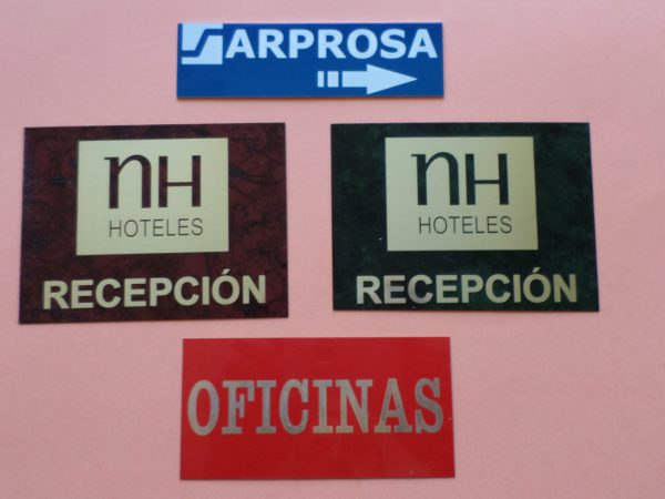 Placas identificativas 2.