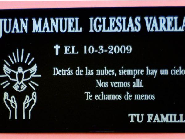 Placas Fúnebres Grabadas.