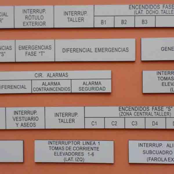 Placas Cuadros Eléctricos.