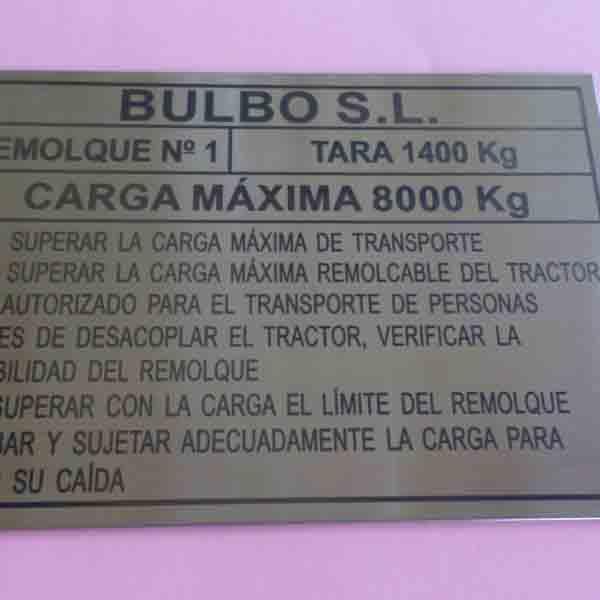 Grabado Identificativas De Máquinas.