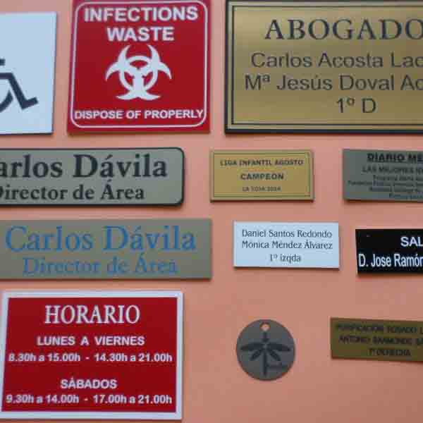 Placas Identificativas 2.